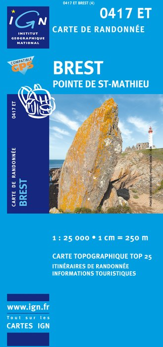 Carte IGN : 0417ET - Brest/Pointe de Saint-Mathieu (Gps)