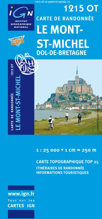 Carte IGN : 1215OT - Le Mont-Saint-Michel (Gps)