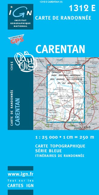 Carte IGN : 1312E - Carentan (Gps)