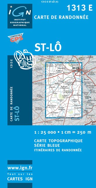 Carte IGN : 1313E - Saint-Lô (Gps)