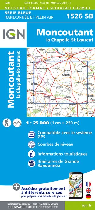 Carte IGN : 1526SB - Moncoutant - La Chapelle St-Laurent