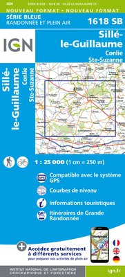 Carte IGN : 1618SB - Sille-le-Guillaume.Conlie Ste.Suzanne