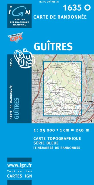 Carte IGN : 1635O - Guitres (Gps)