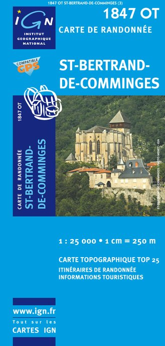 Carte IGN : 1847OT - Saint-Bertrand de Comminges (Gps)