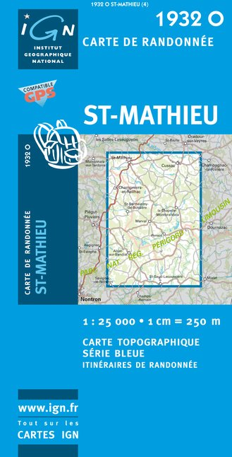 Carte IGN : 1932O - Saint-Mathieu (Gps)