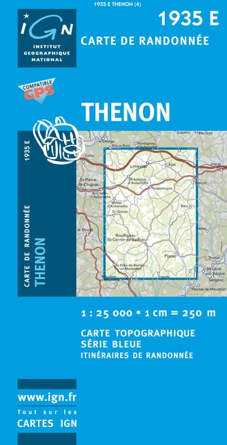 Carte IGN : 1935E - Thenon (Gps)