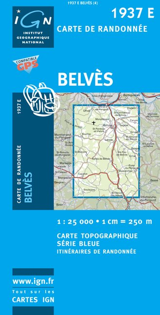 Carte IGN : 1937E - Belves (Gps)