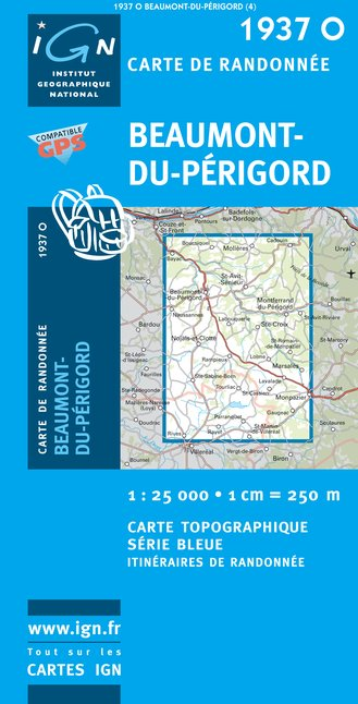 Carte IGN : 1937O - Beaumont-Du-Perigord (Gps)