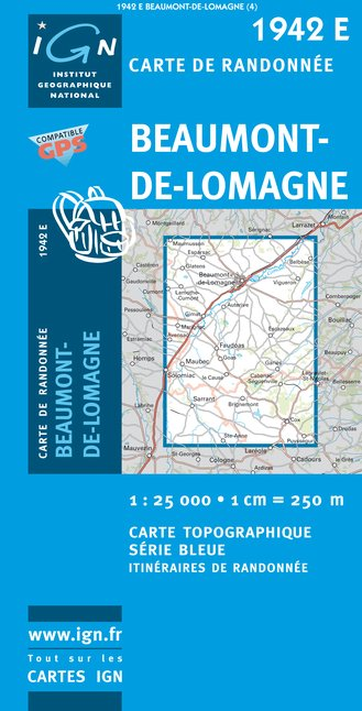 Carte IGN : 1942E - Beaumont-De-Lomagne (Gps)