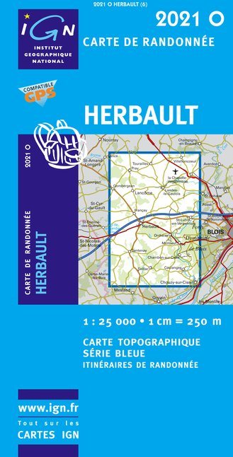 Carte IGN : 2021O - Herbault (Gps)