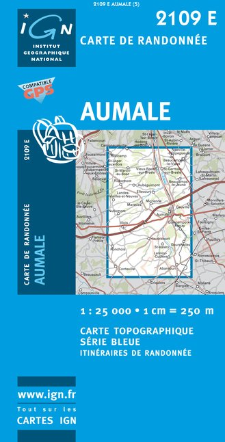 Carte IGN : 2109E - Aumale (Gps)