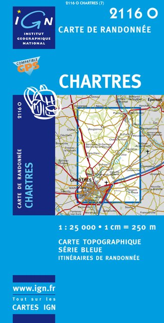 Carte IGN : 2116O - Chartres (Gps)