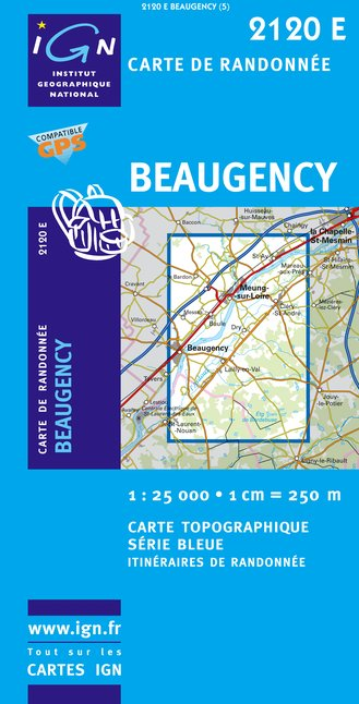 Carte IGN : 2120E - Beaugency (Gps)
