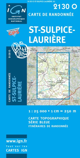Carte IGN : 2130O - Saint-Sulpice-Lauriere (Gps)