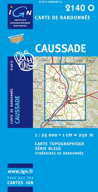 Carte IGN : 2140O - Caussade (Gps)