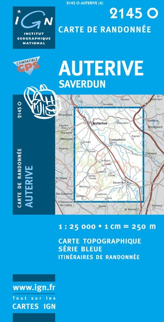 Carte IGN : 2145O - Auterive/Saverdun (Gps)