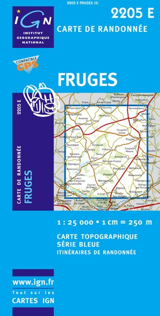 Carte IGN : 2205E - Fruges (Gps)