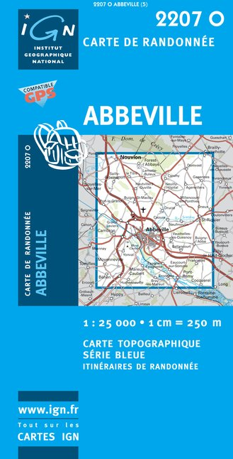 Carte IGN : 2207O - Abbeville (Gps)