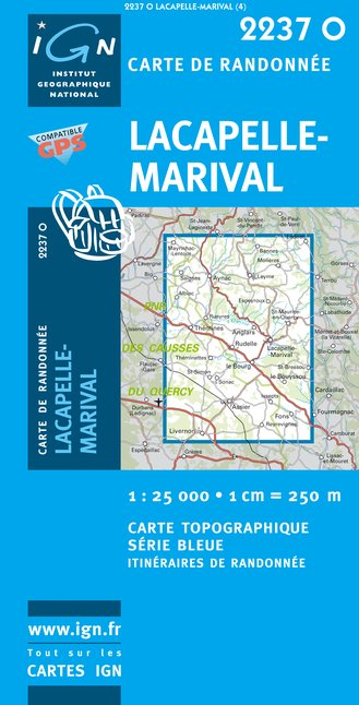 Carte IGN : 2237O - Lacapelle-Marival (Gps)