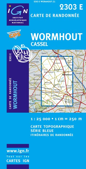 Carte IGN : 2303E - Wormhout/Cassel (Gps)