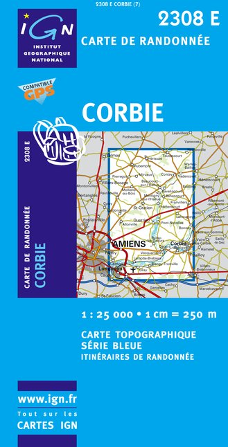 Carte IGN : 2308E - Corbie (Gps)