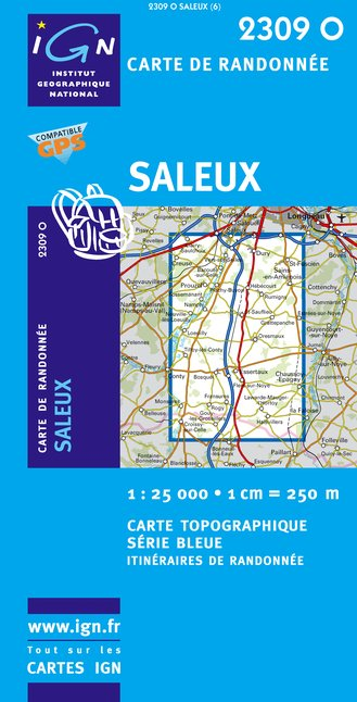 Carte IGN : 2309O - Saleux (Gps)