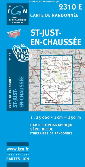 Carte IGN : 2310E - Saint-Just-En-Chaussee (Gps)