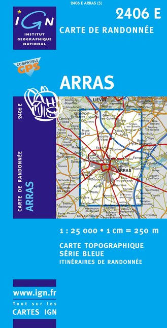Carte IGN : 2406E - Arras (Gps)
