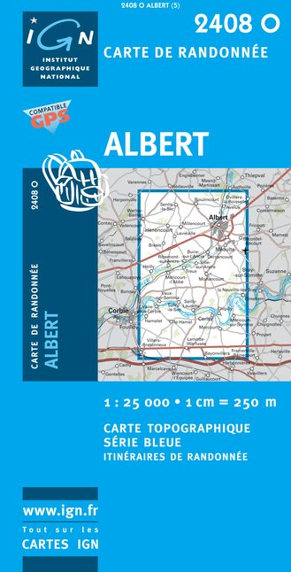 Carte IGN : 2408O - Albert (Gps)