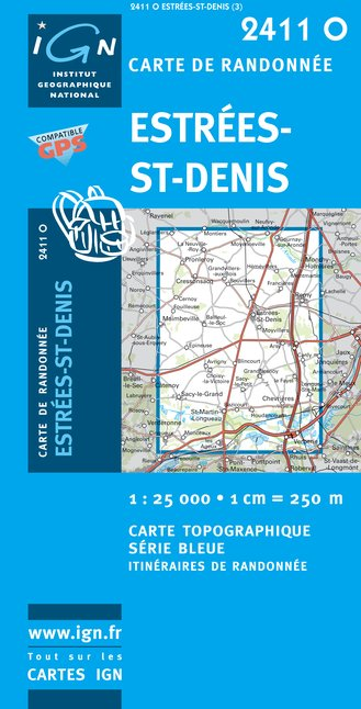 Carte IGN : 2411O - Estrees-Saint-Denis (Gps)