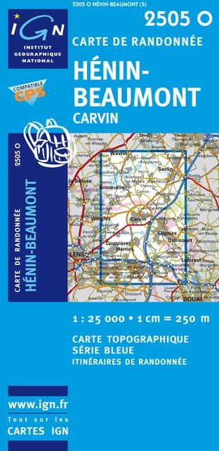 Carte IGN : 2505O - Henin-Beaumont/Carvin (Gps)
