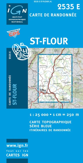 Carte IGN : 2535E - Saint-Flour (Gps)