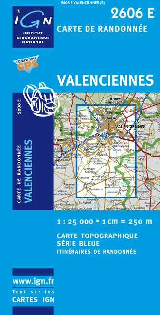 Carte IGN : 2606E - Valenciennes (Gps)