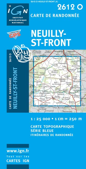 Carte IGN : 2612O - Neuilly-Saint-Front (Gps)