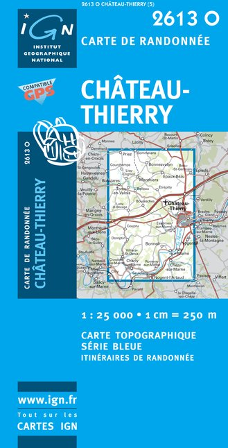 Carte IGN : 2613O - Chateau-Thierry (Gps)