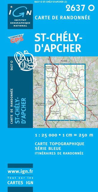Carte IGN : 2637O - Saint-Chely-D'Apcher (Gps)