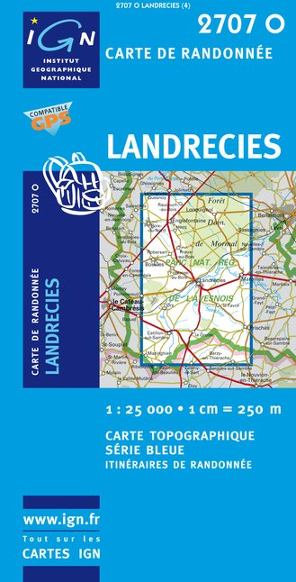 Carte IGN : 2707O - Landrecies (Gps)