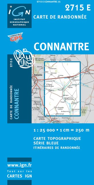Carte IGN : 2715E - Connantre (Gps)
