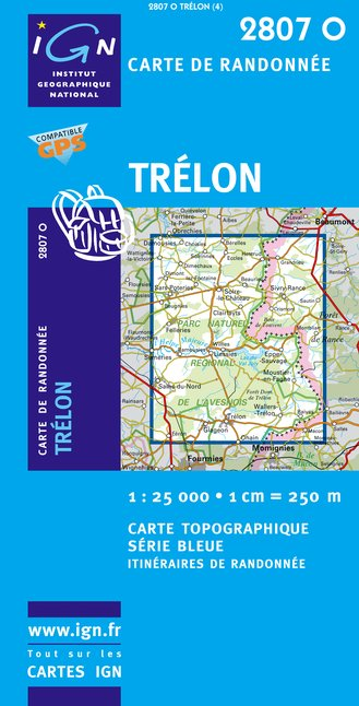 Carte IGN : 2807O - Trelon (Gps)