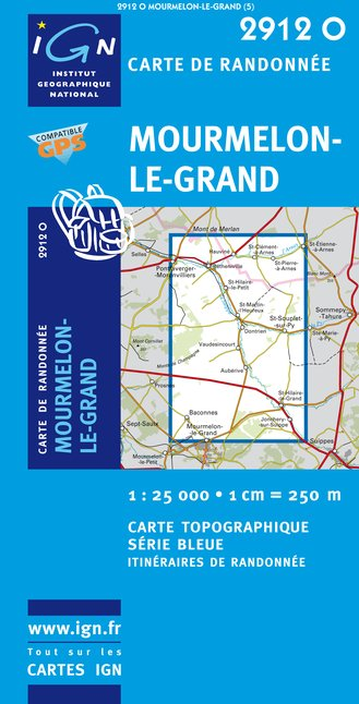 Carte IGN : 2912O - Mourmelon-Le-Grand (Gps)