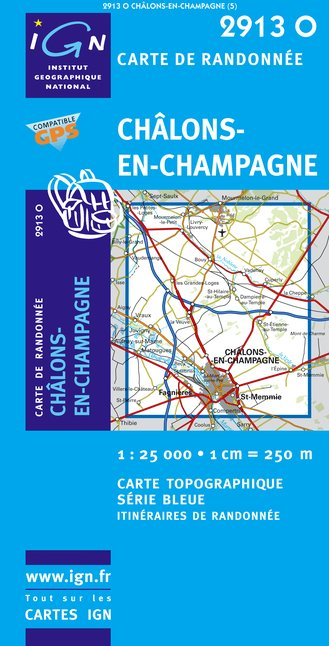 Carte IGN : 2913O - Chalons-En-Champagne (Gps)