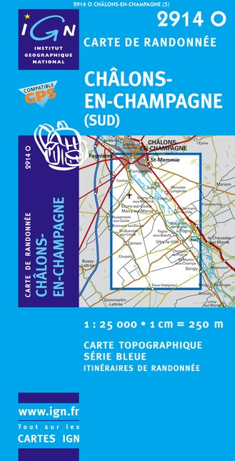 Carte IGN : 2914O - Chalons-En-Champagne (Gps)