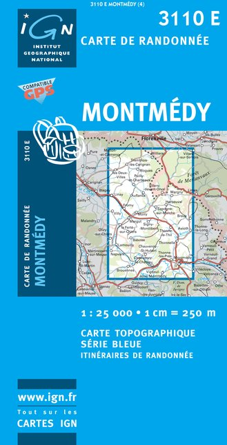 Carte IGN : 3110E - Montmedy (Gps)