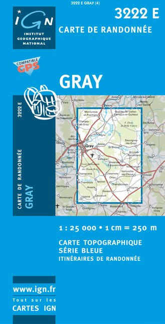 Carte IGN : 3222E - Gray (Gps)