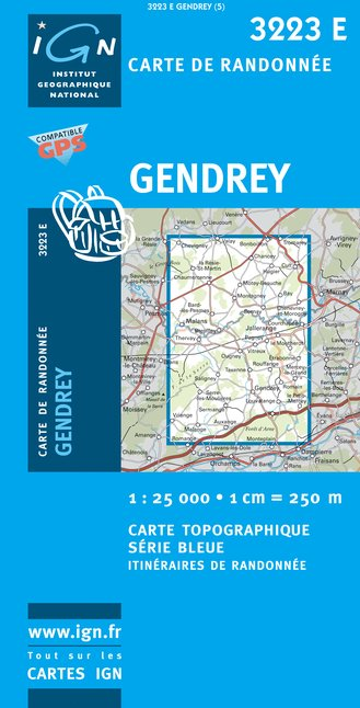 Carte IGN : 3223E - Gendrey (Gps)