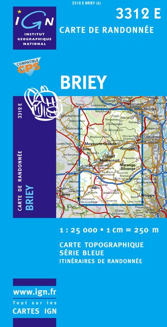 Carte IGN : 3312E - Briey (Gps)