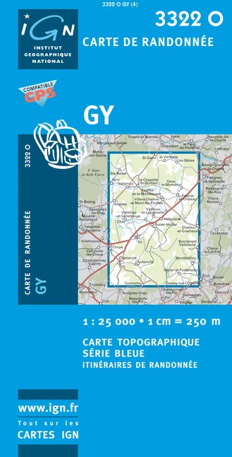 Carte IGN : 3322O - Gy (Gps)