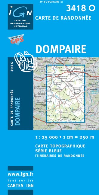 Carte IGN : 3418O - Dompaire (Gps)