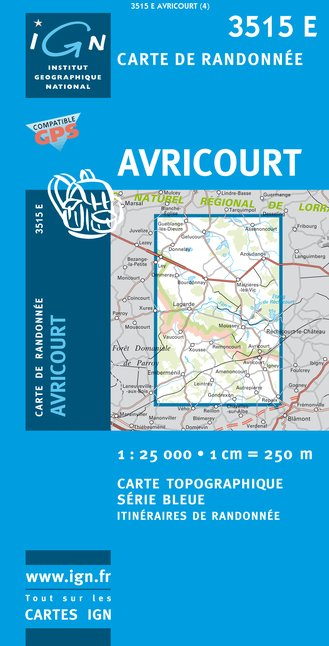 Carte IGN : 3515E - Avricourt (Gps)