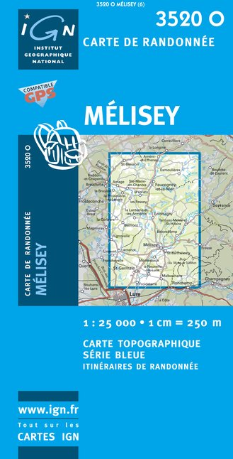 Carte IGN : 3520O - Melisey (Gps)